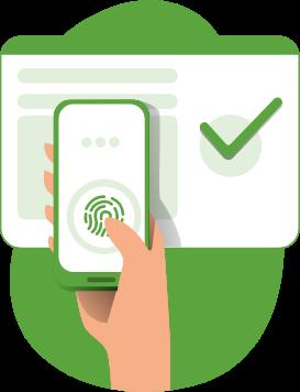 fingerprint authentication icon png